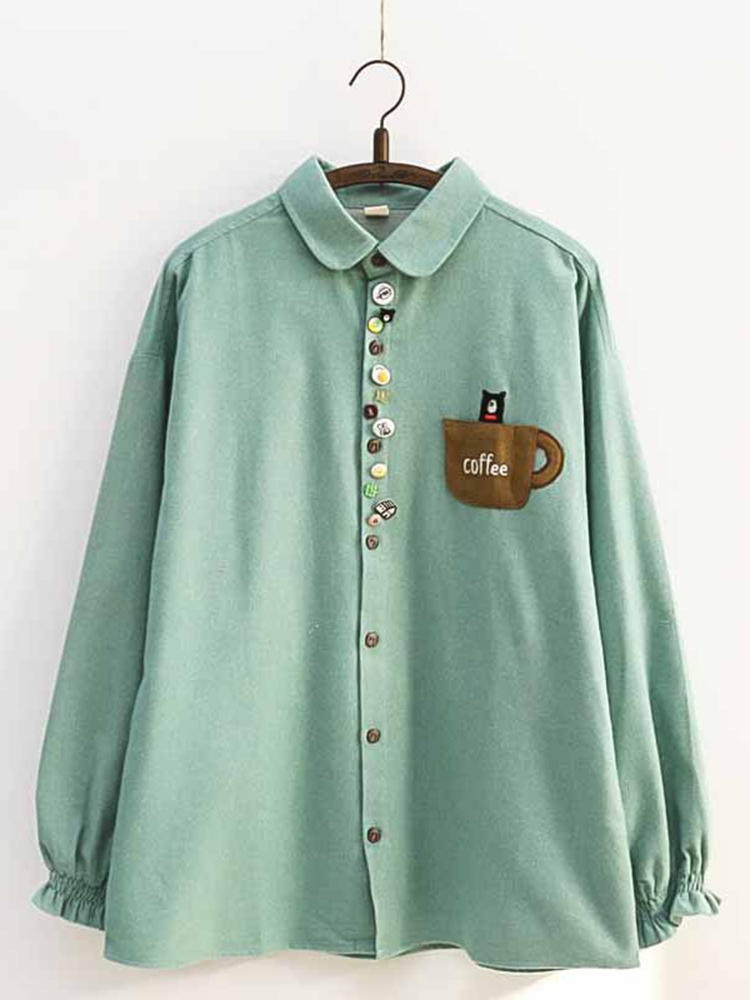 Colorful Buttons Blouse