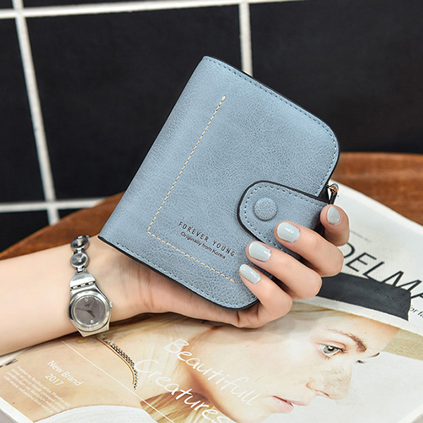 Women Buckle Purse Multi-card Zipper Wallet Short Wallet Clutch Bag