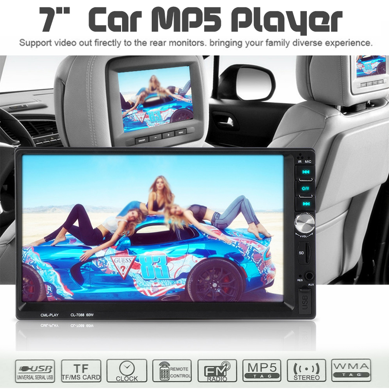 7 Inch Touch Screen Car MP5 Player bluetooth FM Radio Stereo Player 1080P Cam