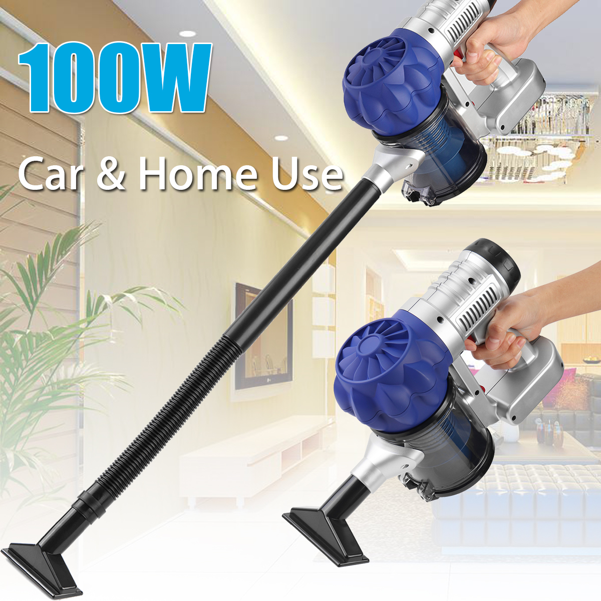 2 In 1 Cordless Stick Vacuum Cleaner Bagless For Car Home Use 3500Pa Dry Wet Use