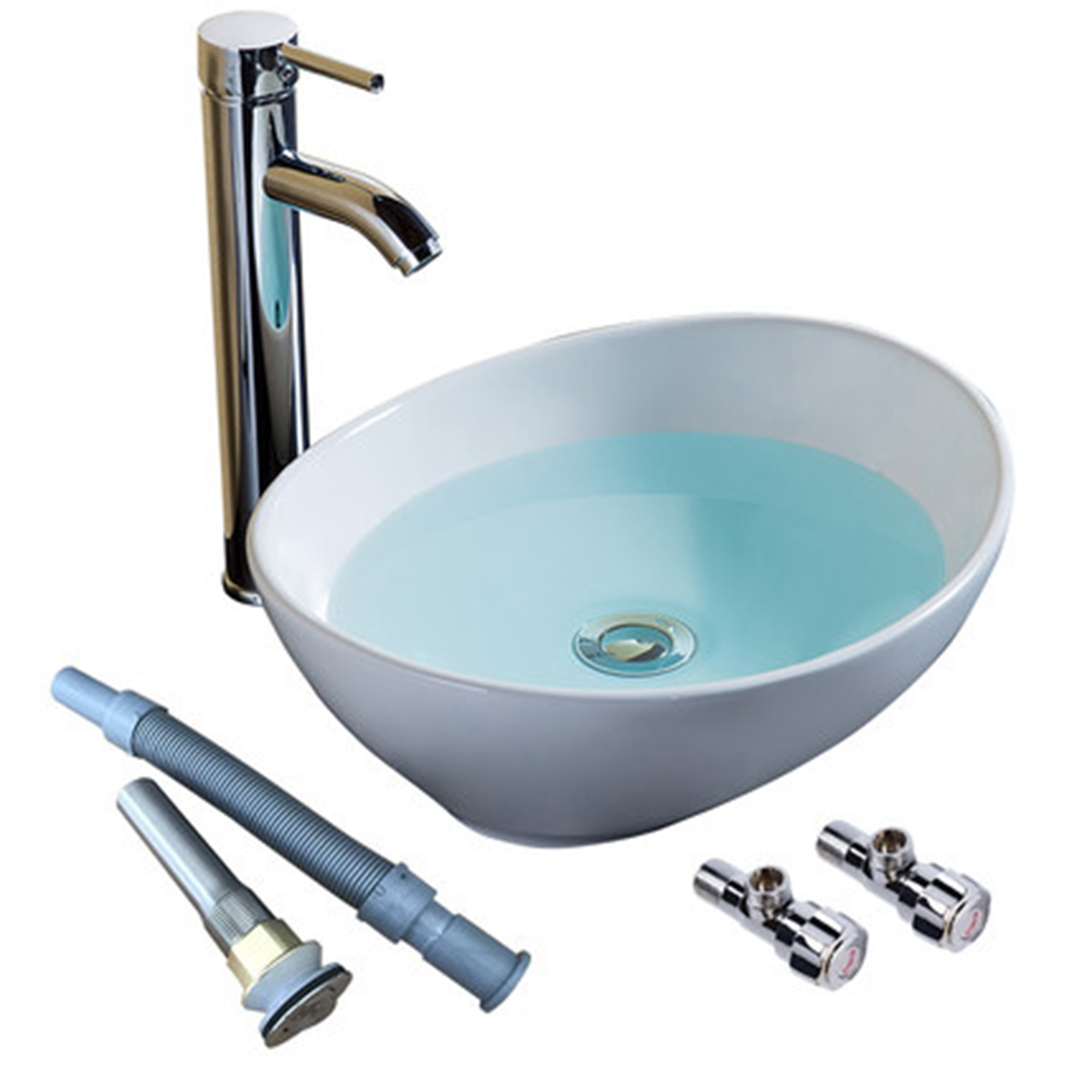 Sinks Amp Taps Bathroom Oval Vessel Sink Vanity Countertop