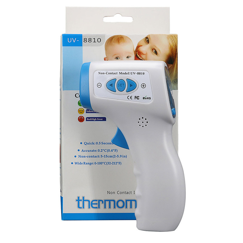 UV-8810 Digital LCD Non Contact Infrared Thermometers Forehead Body Surface Temperature Measure for Adult Child Household Indoor Temperature Test Machine