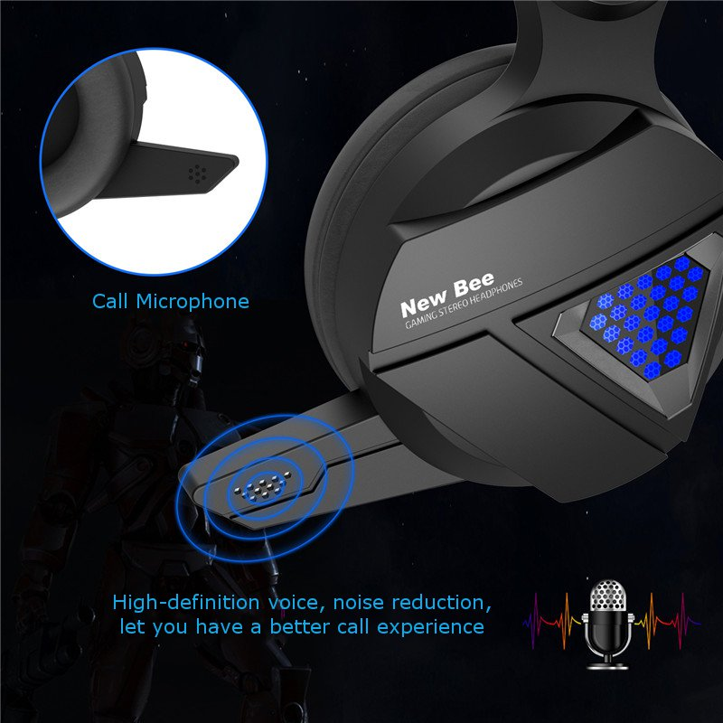 Bakeey NB-G01 Wired Gaming Headphone RGB LED Light Bass Stereo Over-ear Headset With Mic for Cell Phone PC