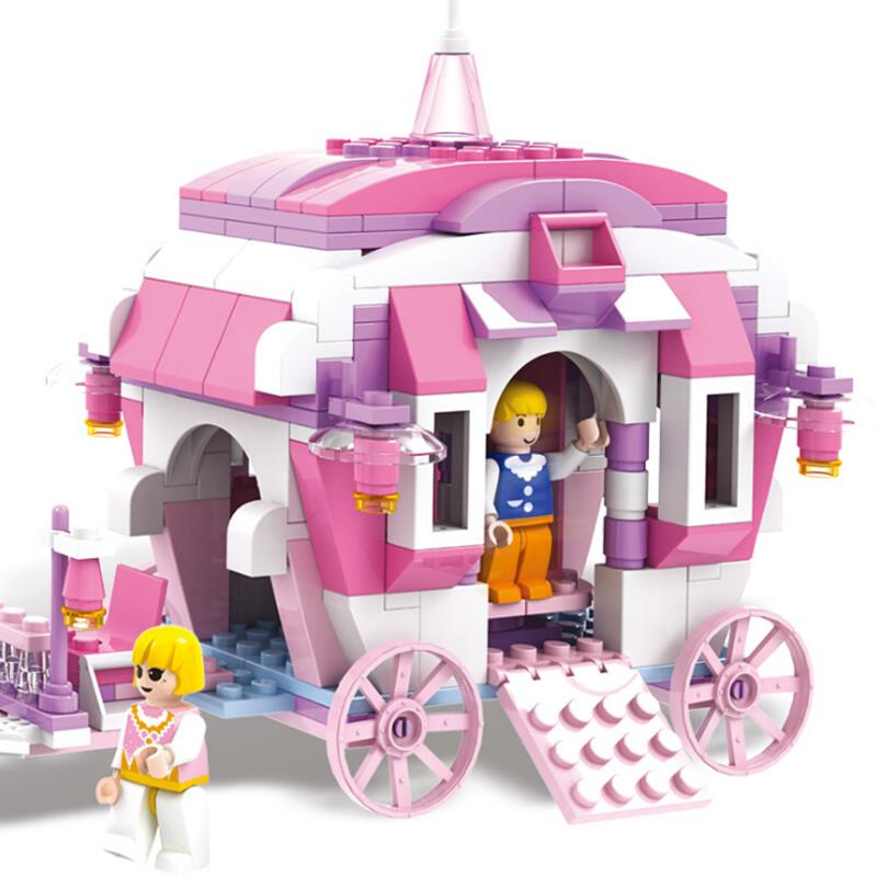 COGO Girl Series 13263 Cinderella Make-up 512 Pcs Building Block Sets Bricks Toys Gifts for Girls