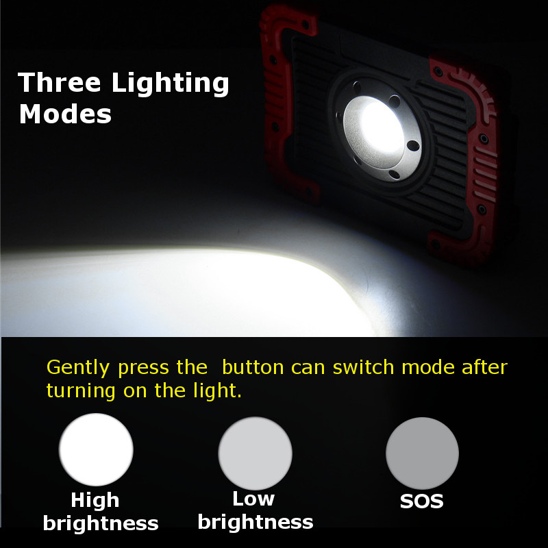 30W 750lm 20LED COB Work Light Rechargeable Lantern Outdoor Camping Tent Emergency Flashlight Torch