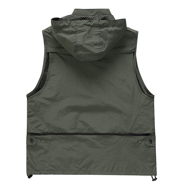 Outdooors Quick Drying Waterproof Multi Pocket Photography Fishing Summer Autumn Functional Vest