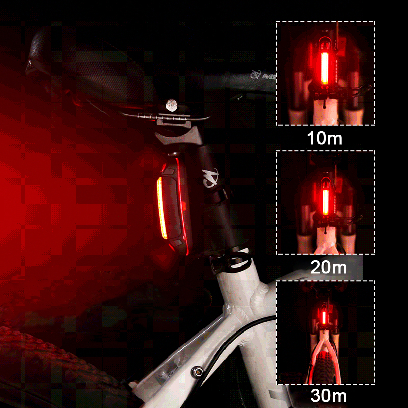 XANES TL09 110LM 6 Modes Bike Tail Light 360° Rotation USB Charging IPX4 Waterproof Warning Light