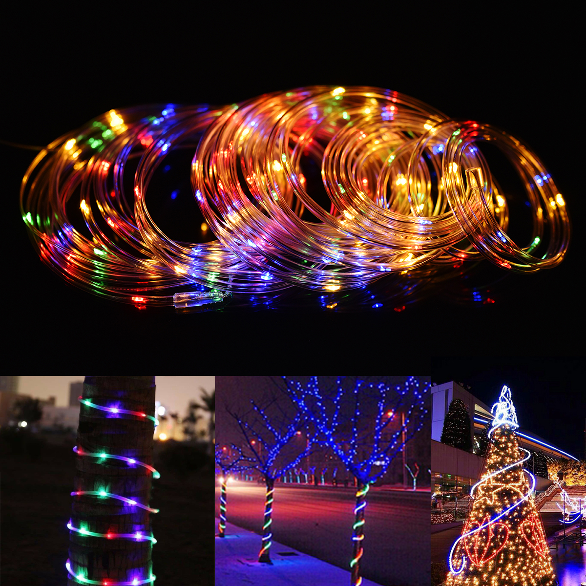12M Battery Powered 120LED String Light 8 Modes Remote Control Fairy Lamp Party Christmas Home Decor
