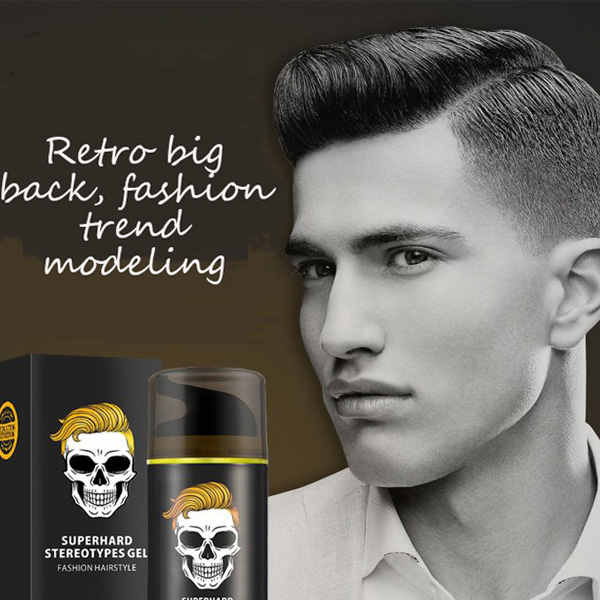 Skeleton Hair Mud Wax Oil Cream Restore Pomade Barber Tool Hair Care Gel