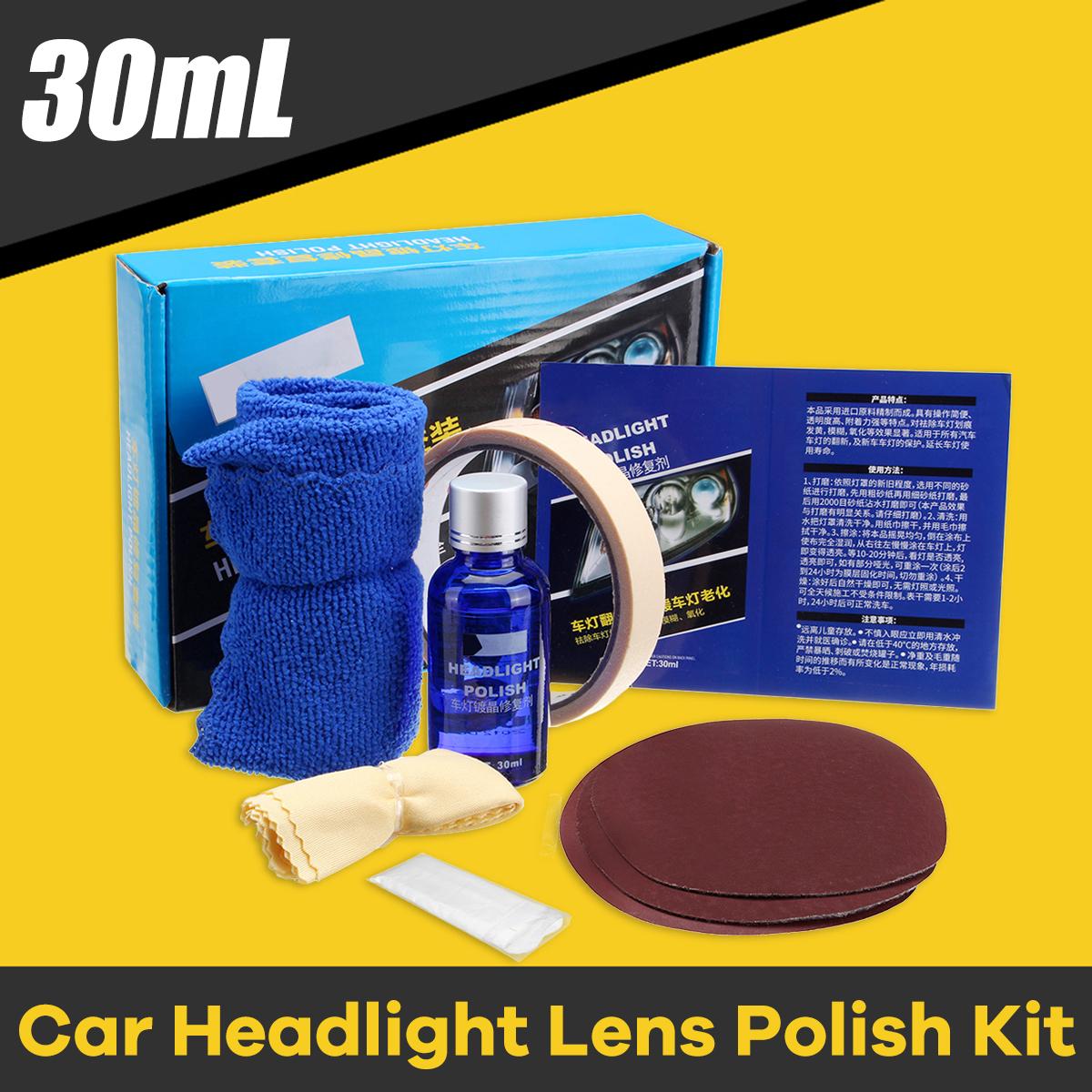 Car Headlight Lens Restoration Liquid Repair Tool Plastic Light Polishing Cleaner