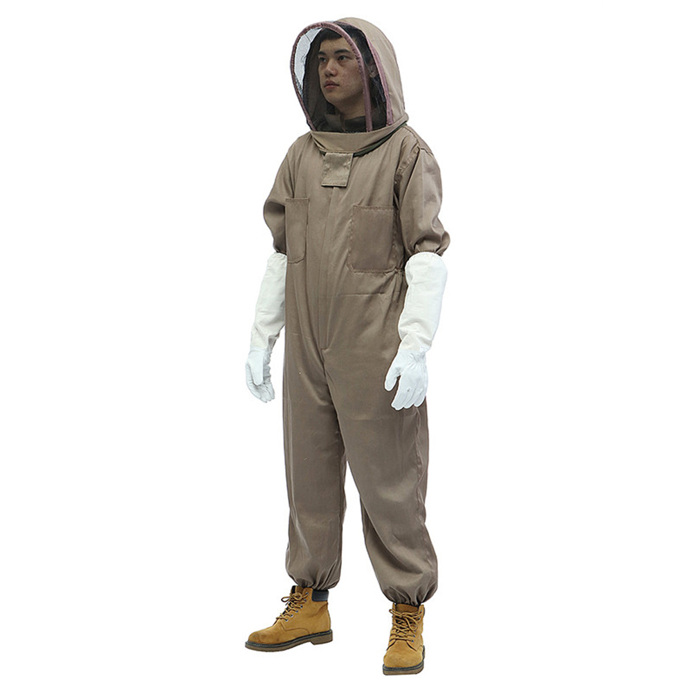 165/170/175mm Full Body Beekeeping Tools Set Bee Keeping Suit Protective Smock Thickened