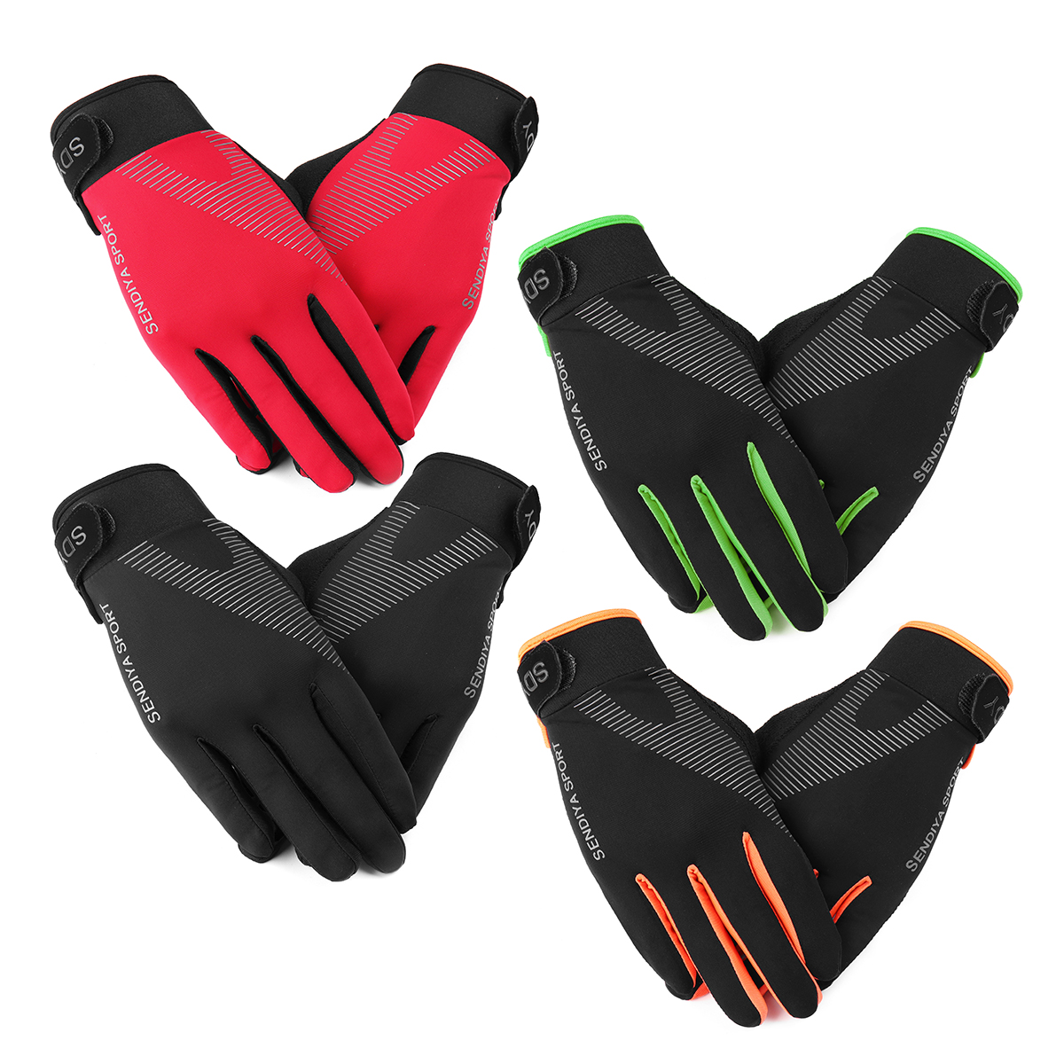 BIKIGHT Bike Bicycle Gloves Full Finger Touch Screen Cycling Outdoor Sports Long Gloves For Men Women