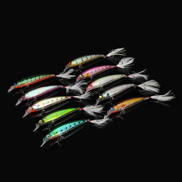 Proberos10 PCS 11.5cm Fishing Hard Lure Bait Fishing Ta