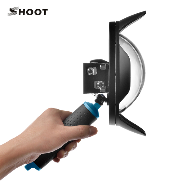 SHOOT 6 inch Dome Port for Gopro Hero 4 3 plus Camera With LCD Waterproof Case