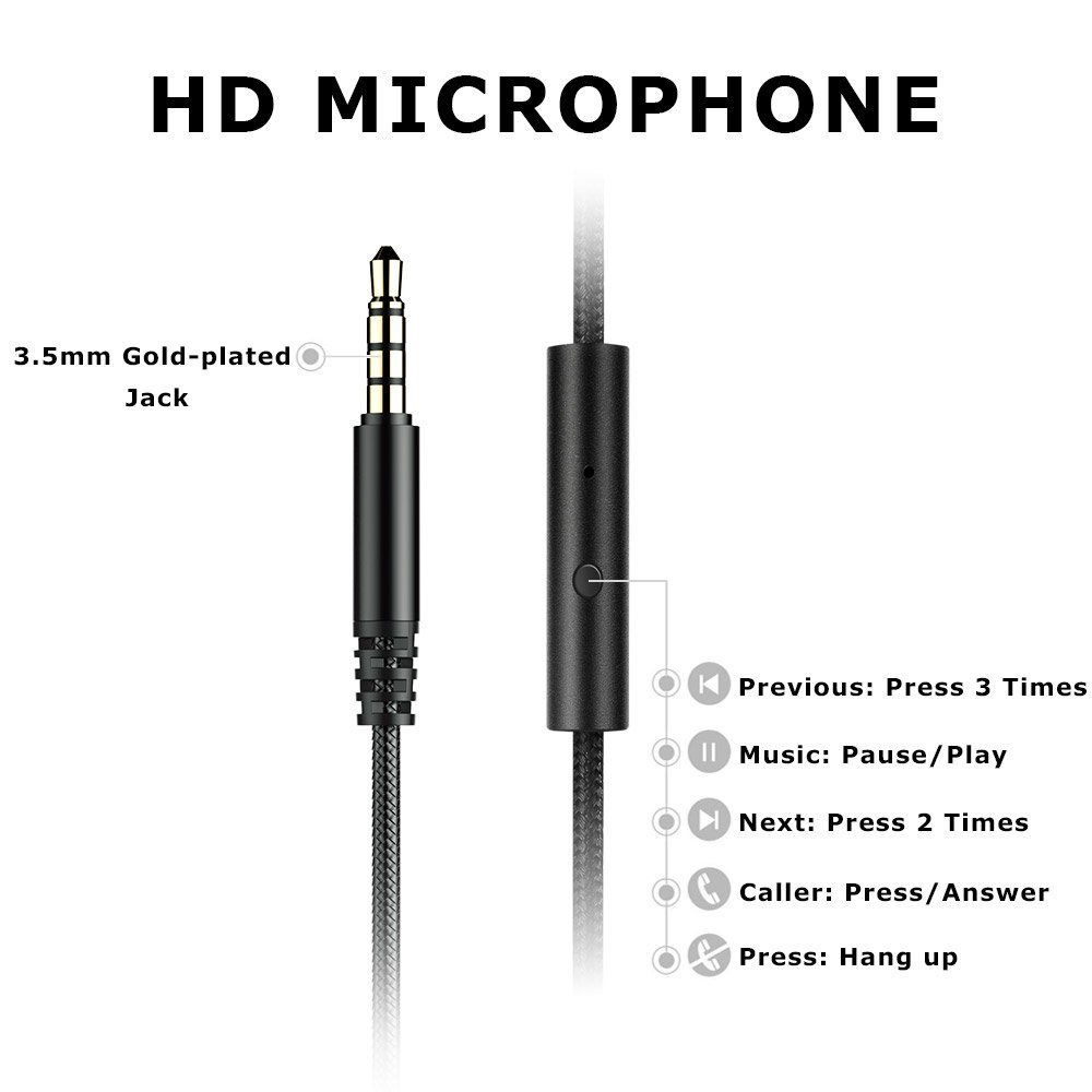 Pincun I9 Foldable 3.5mm Wired Headphone Heavy Bass Music Headset with Mic for Samsung Xiaomi Huawei