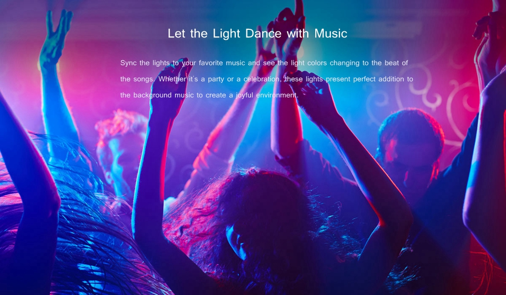 XIAOMI Yeelight YLDD04YL DC24V 2M Smart APP Control RGB LED Strip Light Work with Alexa + EU Plug