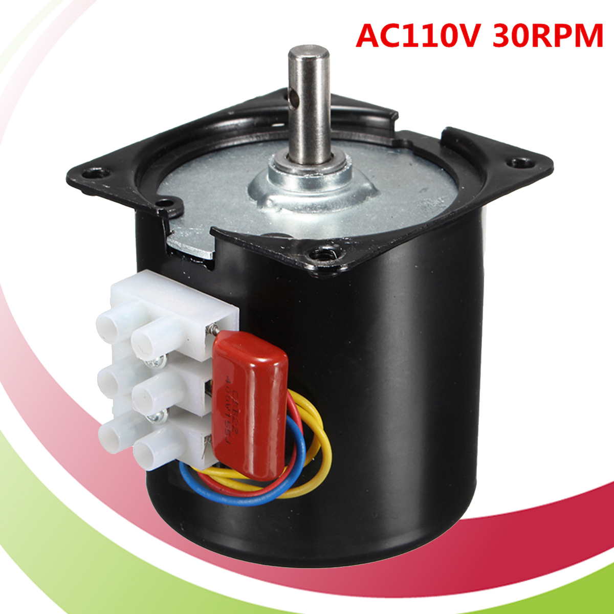 AC 110V 14W 30RPM/min 50HZ Low Speed Reversible Synchronous Motor