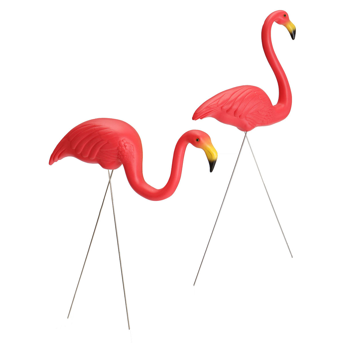 Plastic Red Flamingo Lawn Figurine Garden Yard Grassland Party Ornament Decorations