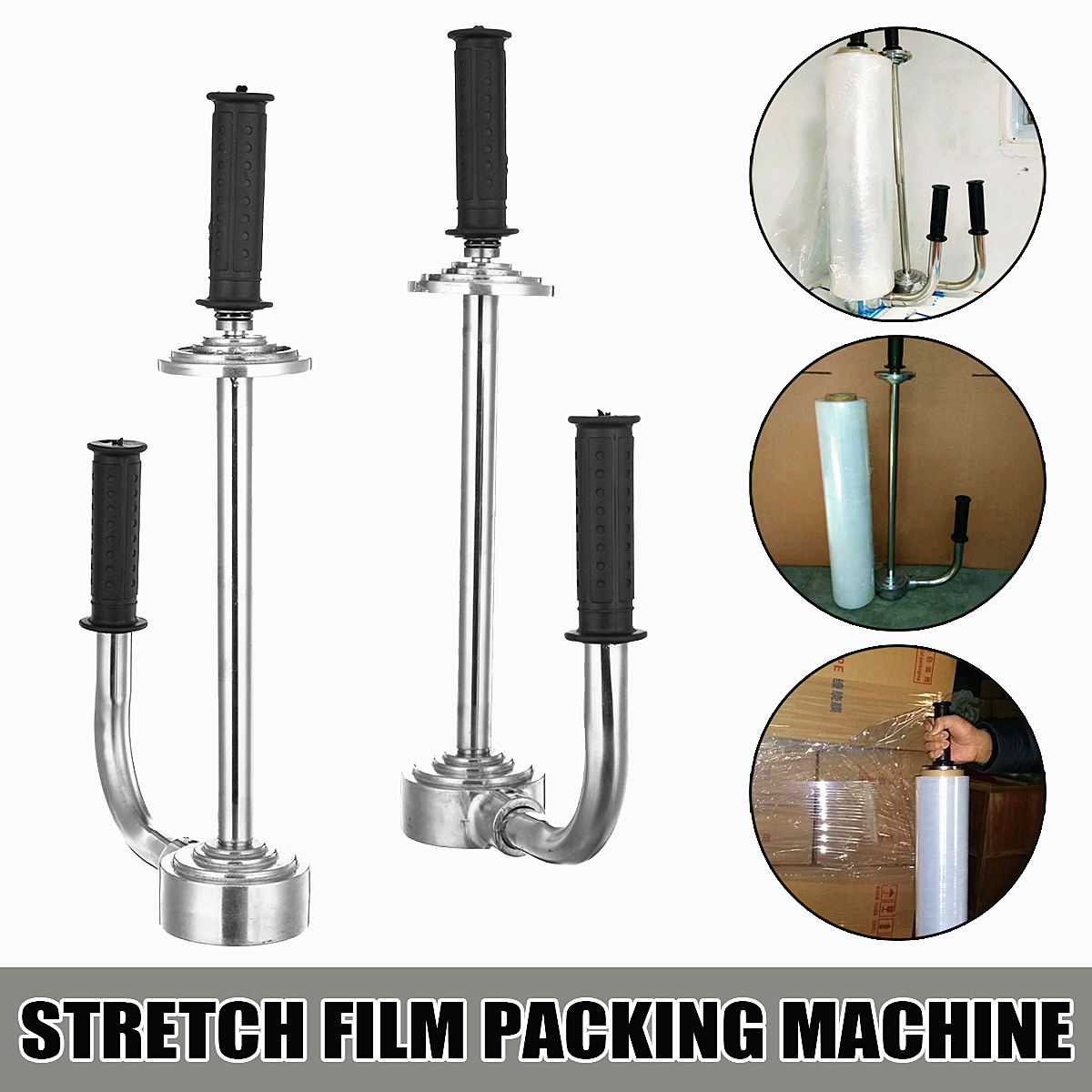 12~20Inch Stainless Steel Stretch Film Packing Machine Roller Adjustable Heavy Type Commercial