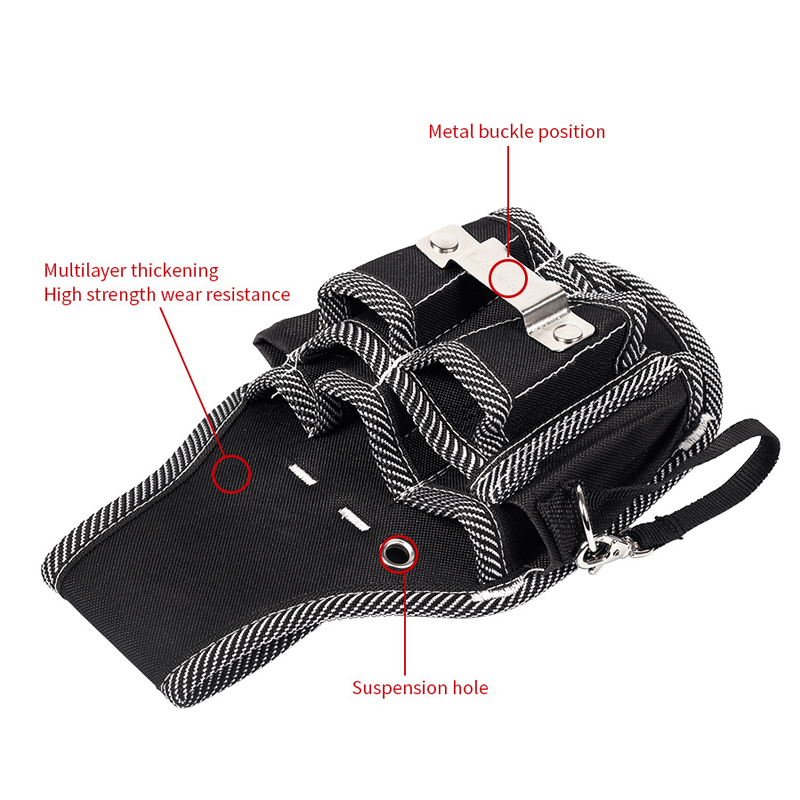 260x145mm Oxford Cloth Tool Bag Electrician Waist Pocket Tools Belt Pouch Bag Screwdriver Holder Kit
