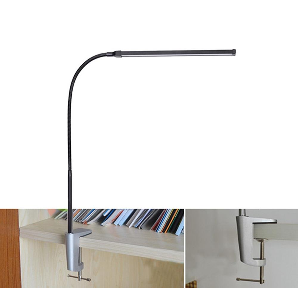 Modern 8W White & Warm White LED Floor Lamp Dimmer USB Desk Reading Light Fixture for Bedroom Decor
