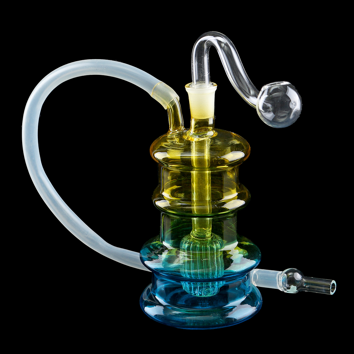 Glass Water Filter Pipe Colorful Pipe Smoking T obacco H erbal C igarette Pipes