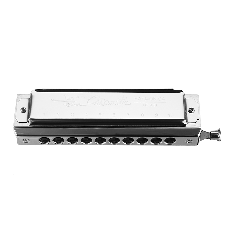 Swan SW1040-5 10 Holes 40 Tones Rounded Mouthpiece Chromatic Harmonica