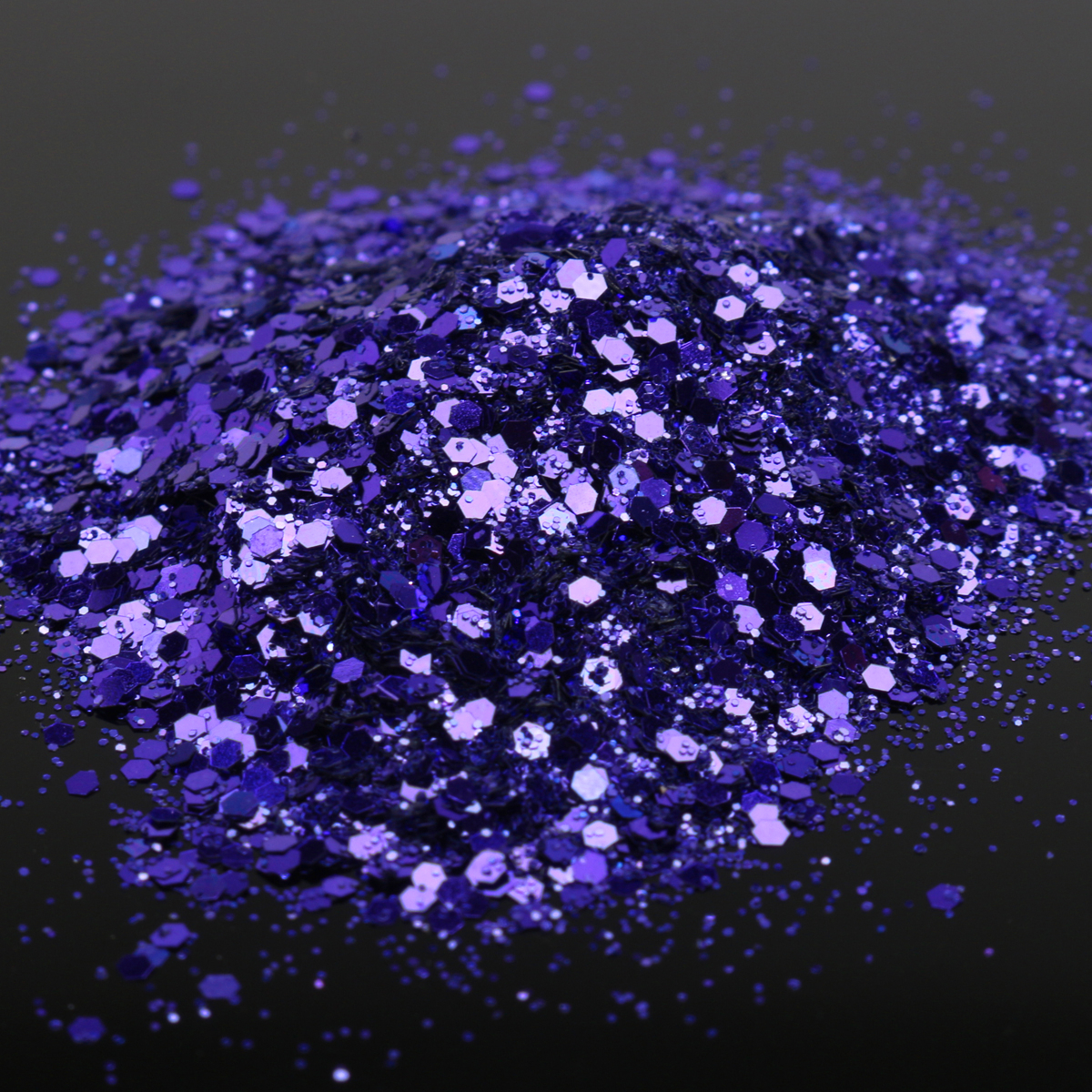 Dark Purple Nail Art Glitter Powder Sheet 1mm Sequins Sparkly Colorful Iridescent Acrylic Tips 10ml