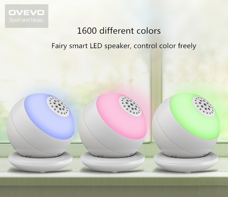 OVEVO Smart Colorful Hands-free APP Control Desk LED Lamp Wireless Bluetooth Speaker