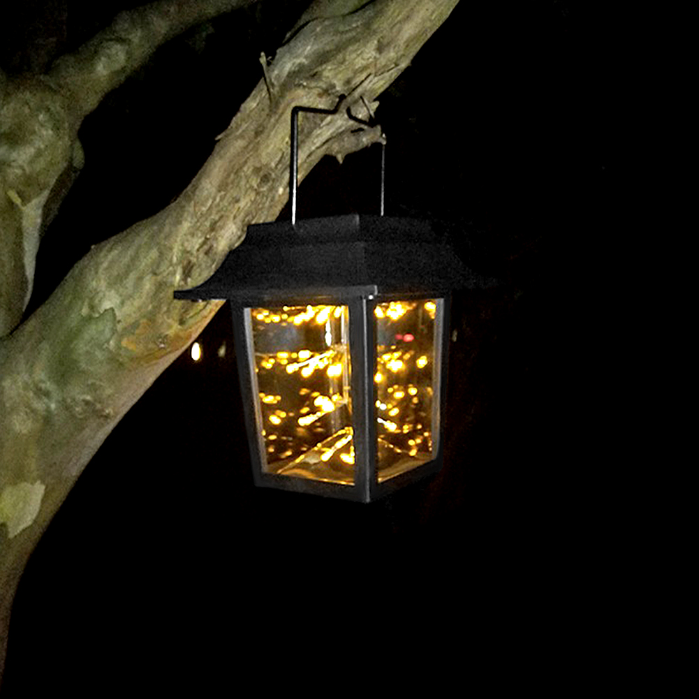 Solar Powered 3W Warm White IP65 LED Hanging Lantern Gypsophila Outdoor Decoration Light for Home
