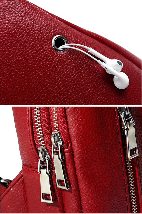 PU Leather Vintage Chest Bags Women Men Casual Crossbody Bags Travel Bags