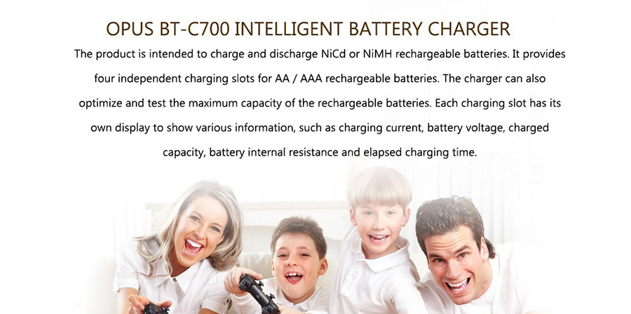 BT-C700 LCD Digital Smart NiCd NiMh AAA 16340 RCR123 14500 AA Battery Charger Discharger