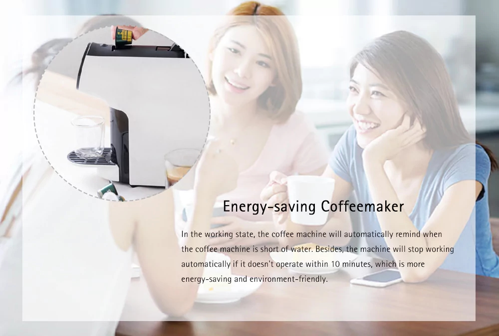 XIAOMI SCISHARE S1103 SCISHARE Smart Automatic Capsule Coffee Machine Extraction Electric Coffee Maker Kettle