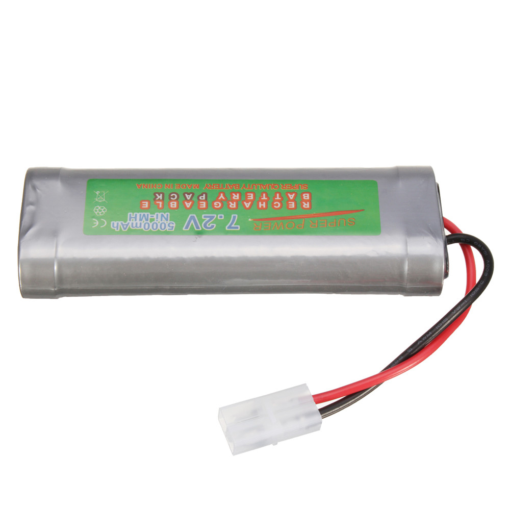 7.2V 5000mAH Ni-MH Rechargeable Battery Pack for Toy Vehicle/Boat/AirPlane