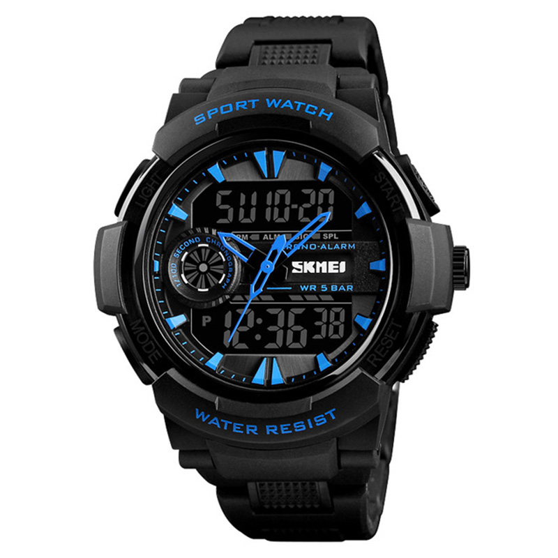 SKMEI 1320 Dual Display Digital Watch Men Chronograph A