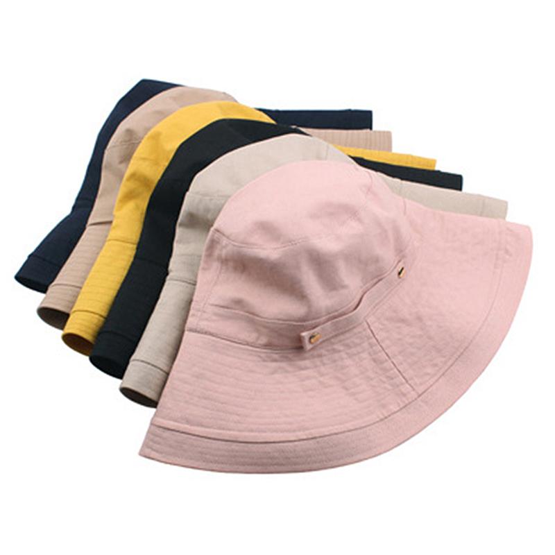 007f04afb0c41 New Women Foldable Double Buckle Bucket Hat