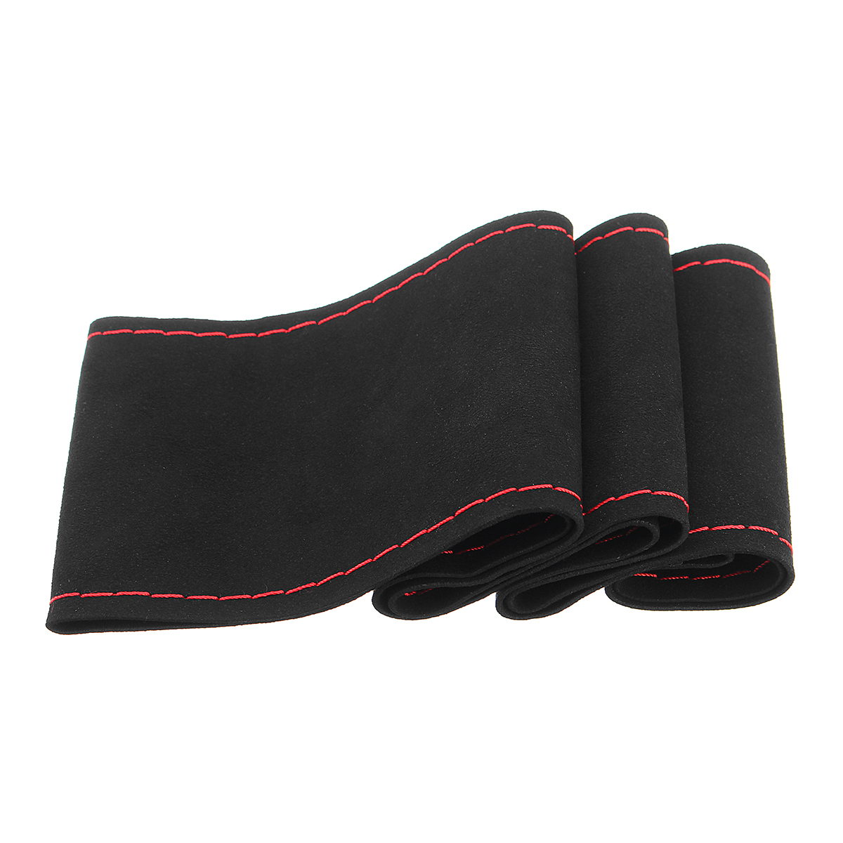 DIY 36/38cm Car Steering Wheel Covers Super Fiber Suede Leather Universal with Needles and Thread