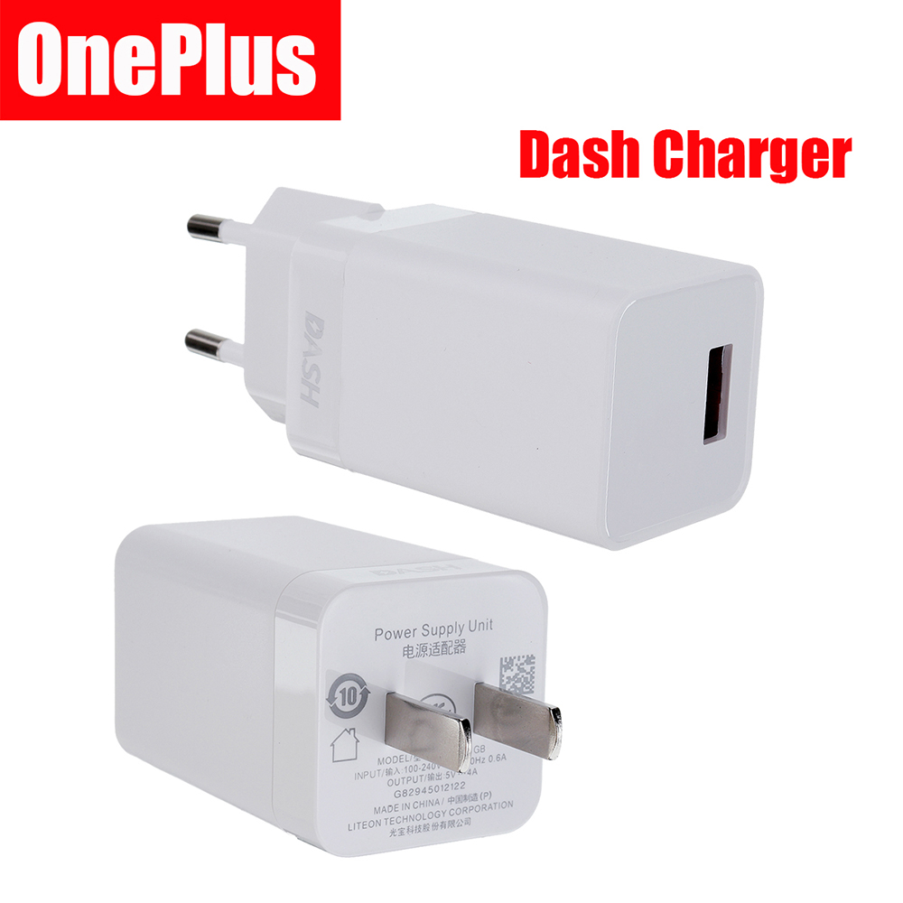Original Oneplus 5V 4A 3 3T 5 5T Dash Quick Charger Type-C Cable Adapter US EU Plug