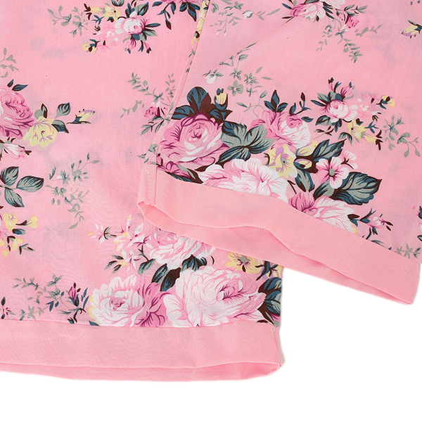 Lady Colorful Printing Long Sleeve Pajamas Sets Sleepwear