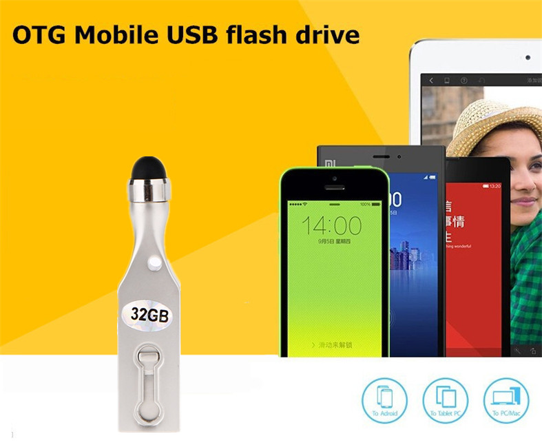 HSTD-151 USB3.0 to Micro USB 16G 32G 64G Flash Drives U Disk For PC and OTG Smartphone