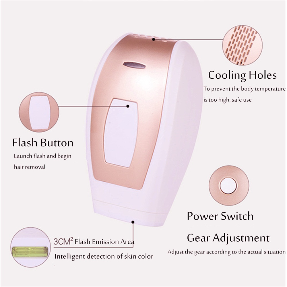 500000 Pulse IPL Laser Epilator Body Permanent Hair Removal
