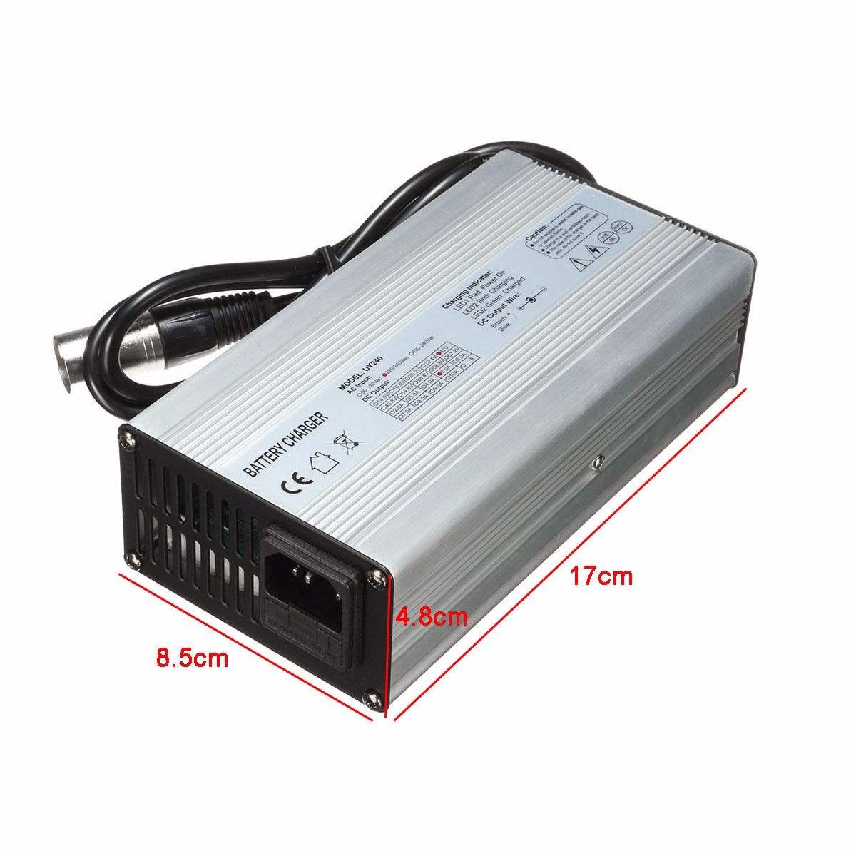 36V 37V 42V 45V 5A Battery Charger For 10s 10x 3.6V/3.7V Lithium Li-ion Battery