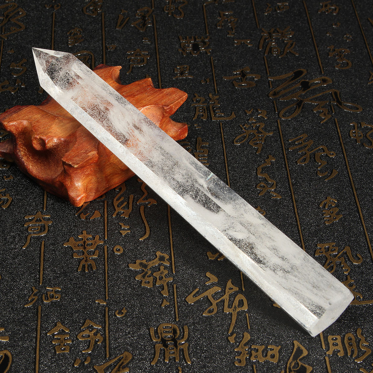 16-18cm Natural Quartz Healing Wand Health Crystal Rock Decoration Craft
