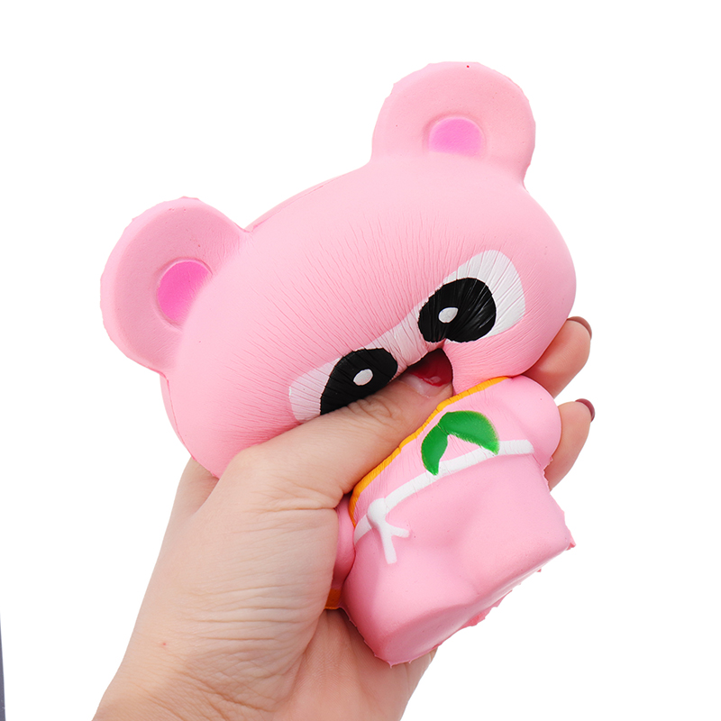 Pink Bear Squishy Panda Ninja Suit Soft Toy 13.5cm Slow Rising Bag With Packaging Gift
