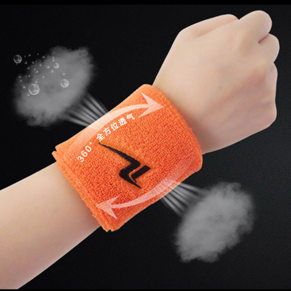 Men Women Sports Cotton Sweat Wrist Support Ball Game Fitness Breathable Wrist Protector