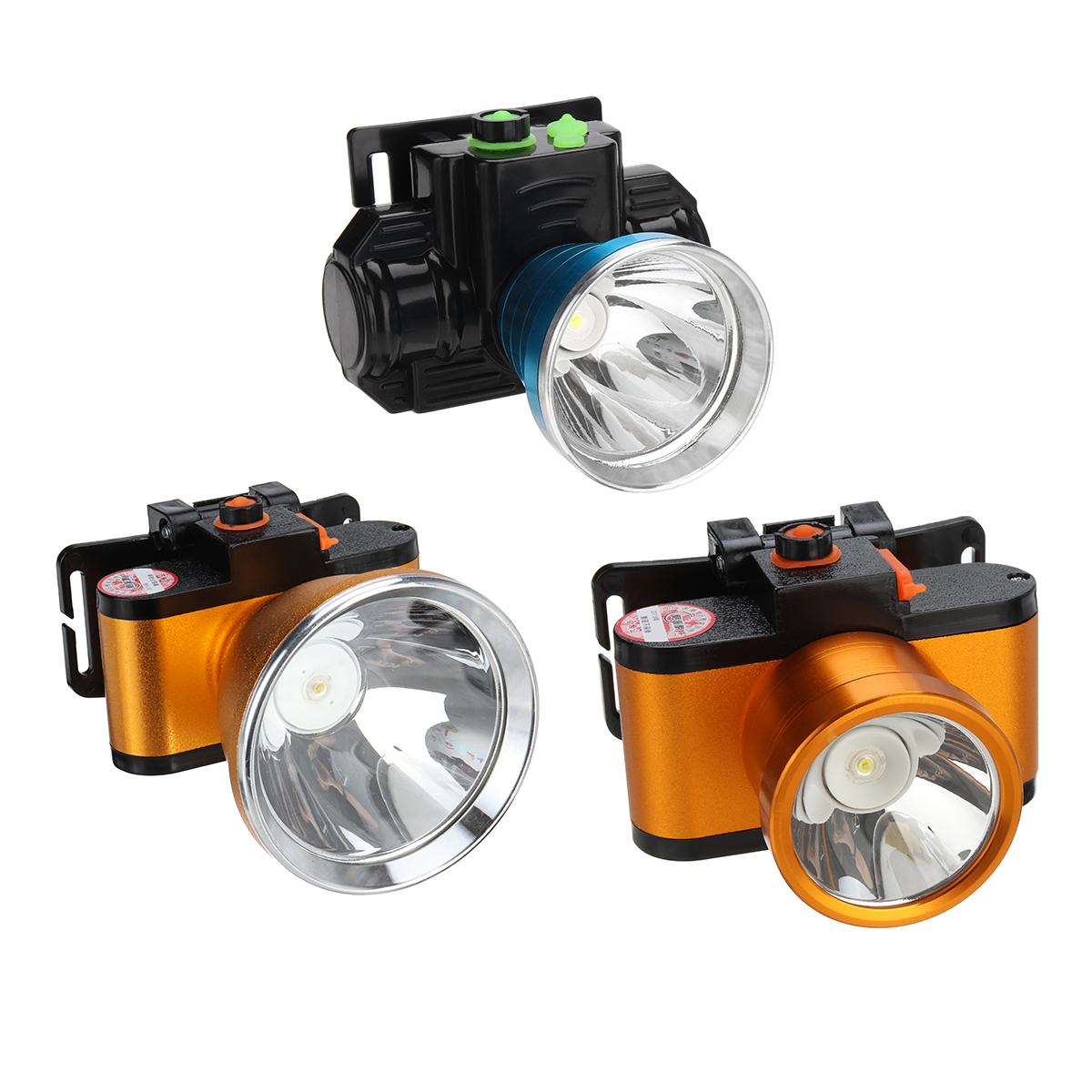 BIKIGHT 35/50/60W T6 Mini LED High Brightness Fishing Headlamp IPX4 Waterproof Flashlight Torch Lamp