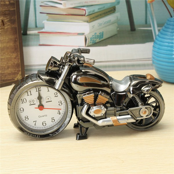 Creative Plastic Motorcycle Motor Bike Quartz Alarm Clock