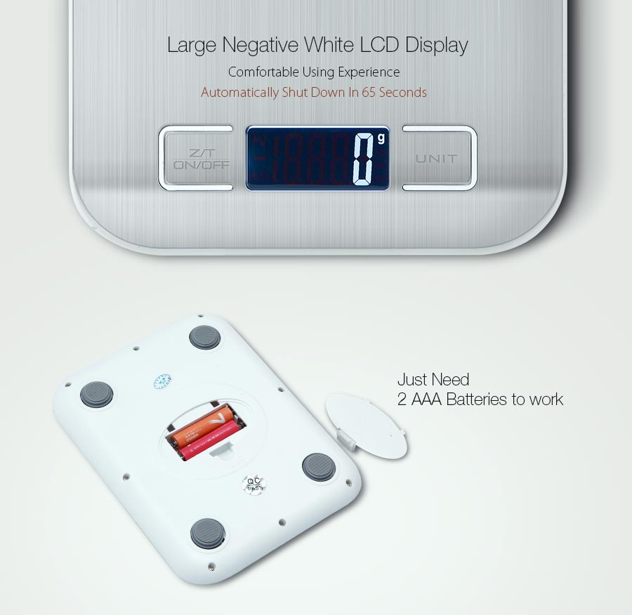Honana HN-MS2 Digital Kitchen Scale 5000g/1g Multi-function HD LCD Display Electronic Balance