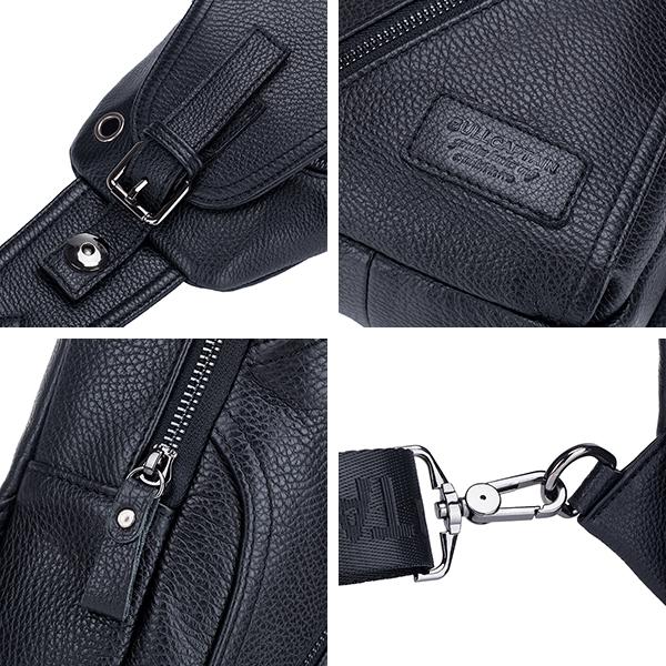 Men Genuine Leather Alligator Pattern Shoulder Bag Leisure Business Crossbody Bag Briefcase