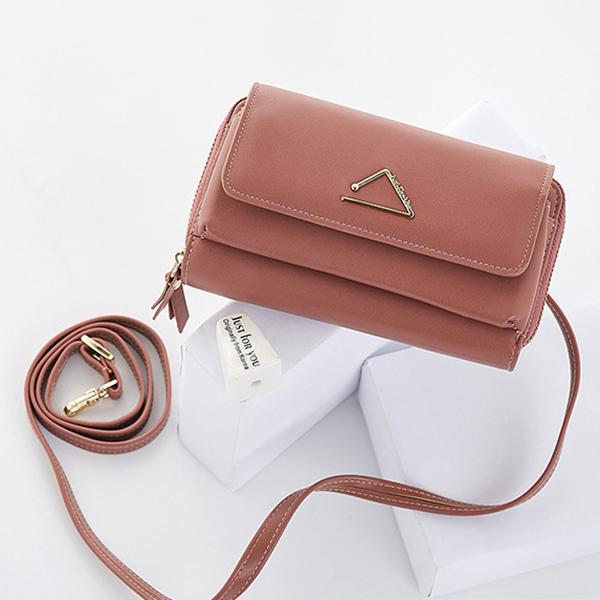 Women Faux Leather Stylish Tiny Crossbody Bag